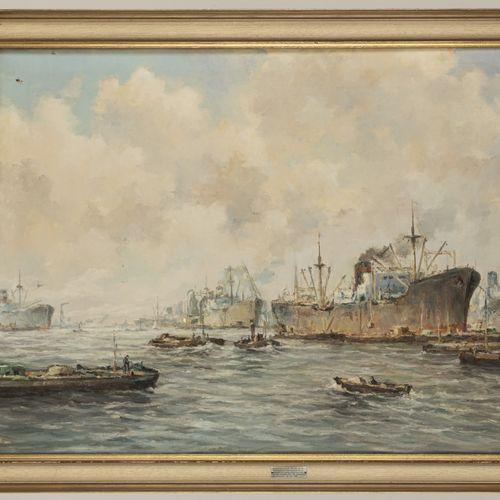 Theodorus Henry Wiegman (Rotterdam 1908 1996 Schiedam), Shipping in Rotterdam ha…