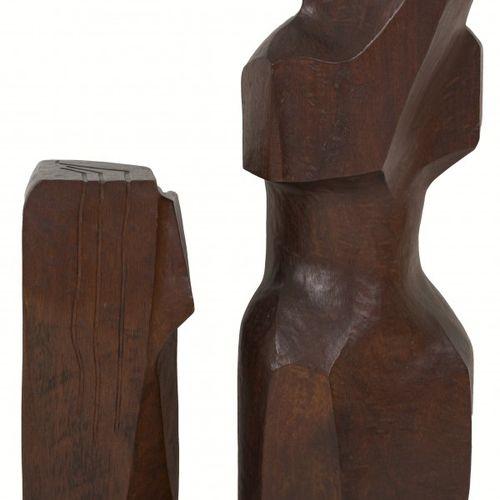 Dutch School, ca. 1970. (2) Sculptures of a head and a woman. O.W.一个签署了J. Weyten…