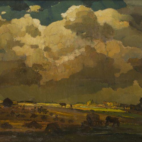 Reinier Kennedy (Dordrecht 1881 1960 Bergen op Zoom) Storm approaching. Signé (e…