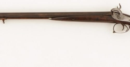 A double barrel percussion hunting rifle, Belgium, late 19th century. Les boulon…