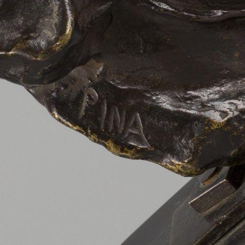 Alfredo Pina (1889 1966), A bronze buste of Beethoven, France, 1914. Monté sur u…
