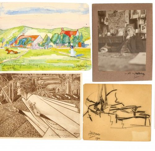 An extensive lot comprising correspondence, (2) drawings and graphic works by Ja…