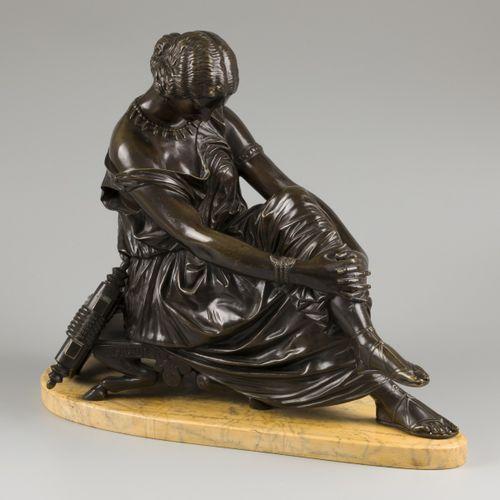 """D'après Jean Jacques """"James"""" Pradier (Genève 1790 1852 Paris), A bronze seated S…"""