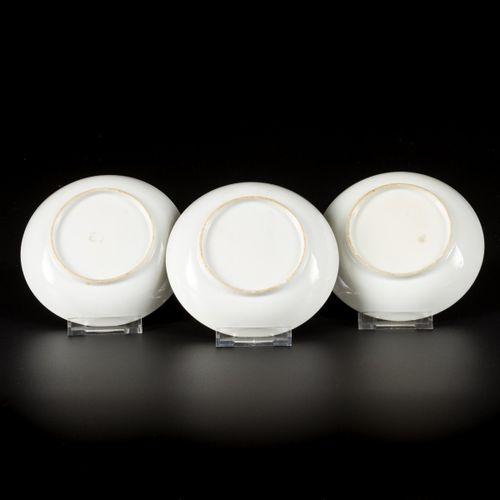 A set of (6) porcelain plates with Mandarin decor, China, 18th century. 直径14厘米。一…