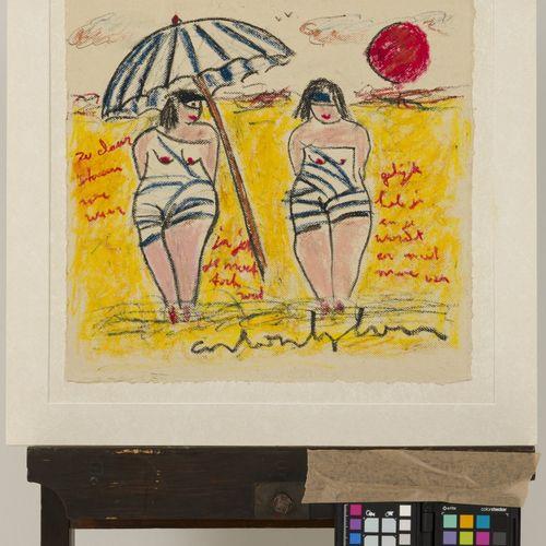 Anton Heyboer (Sabang (Indonesië) 1924 2005 Den Ilp) Two women on the beach. Sig…