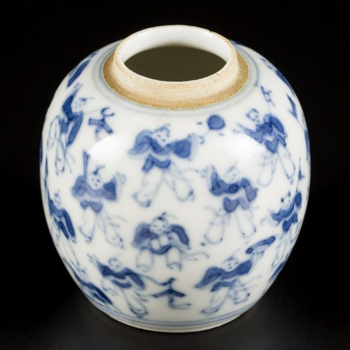 A porcelain storage jar with a decoration of the 100 children, China, 19th centu…