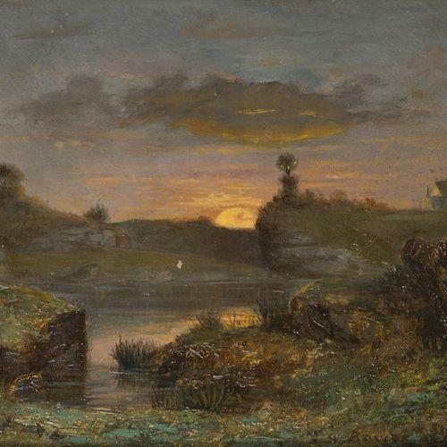 François Auguste Ravier (Lyon 1814 1895 Morestel), Paysage de Morestel A marsh l…
