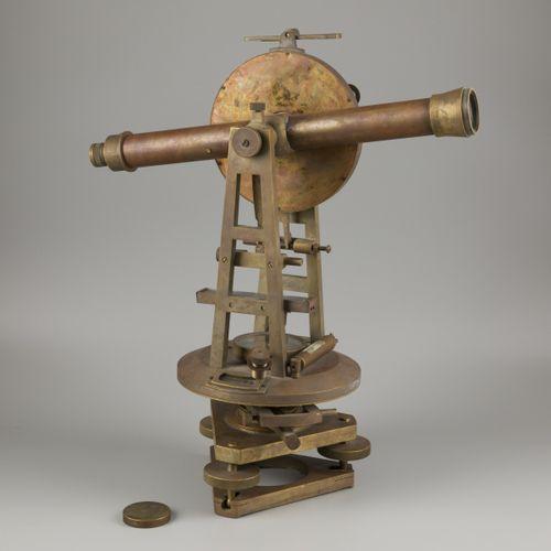 "A brass ""F.W. Breithaupt & Sohn"" surveyors' spirit level instrument (transit/ th…"