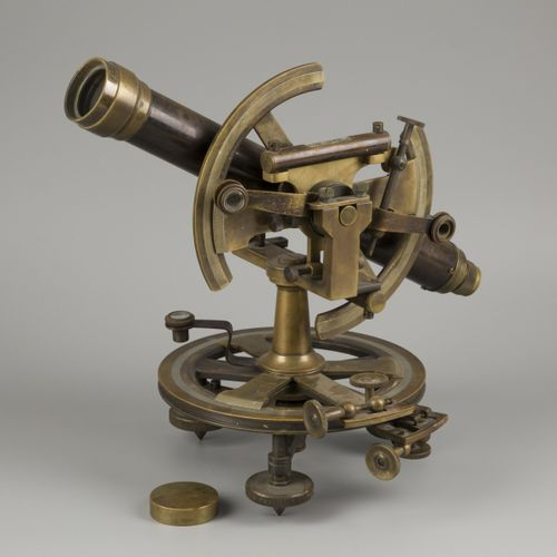 A brass A. Meisner surveyors' level spirit instrument (transit/ theodolite), Ger…