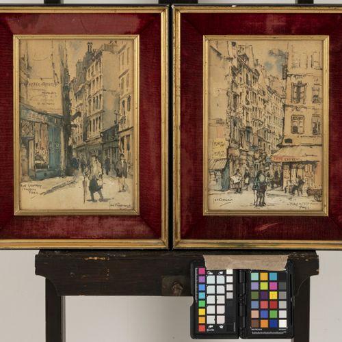 Jan Korthals (Amsterdam 1916 1972), A set of (3) Parisian streetviews. Signé (da…