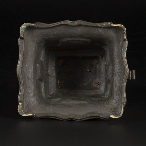A bronze incense burner with a foo dog on the lid, China, 19th century. Dim.32 x…