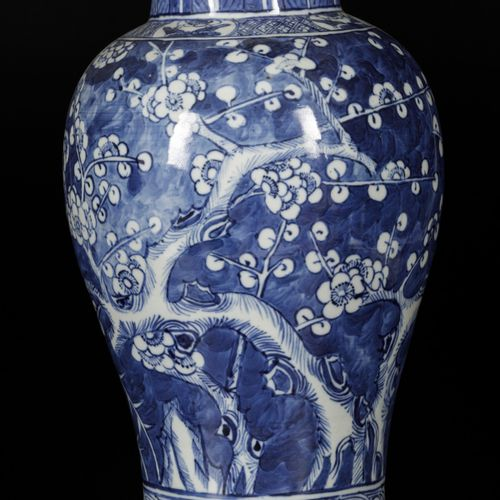 A porcelain vase with decor of prunus on broken ice, China, 19th century. 38 x 1…