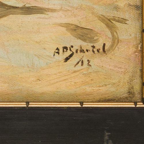 Antonie Pieter Schotel (Dordrecht 1890 1958 Laren, NH), Barges in the harbour of…