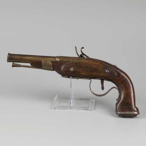 A flintlock equestrian/ cavalry pistol, 18th century and later. Le mécanisme par…