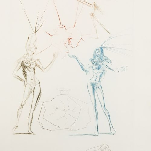 Salvador Dali (Figueres 1904 1989), The lovers condemned, from the portfolio Tri…