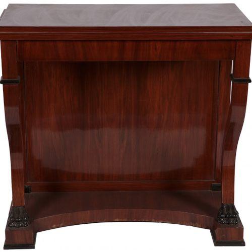 A Biedermeier style mahogany veneered trumeau, Dutch, early 20th century. 长方形的顶部…