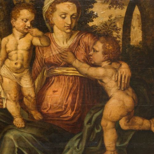 Northern Romanist master ca. 1600. Charitas / Charity A mother figure with child…