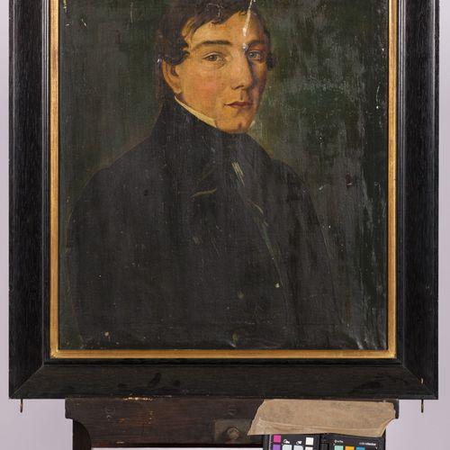 Dutch School, 19th. C. Portrait of a gentleman. Non signé, huile sur toile. Dim.…