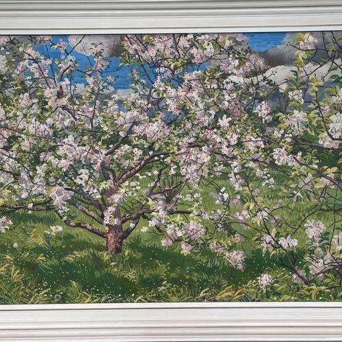 Herman Bieling (Hilligersberg 1887 1964 Rhoon), Blossoming tree. Signé (en bas à…