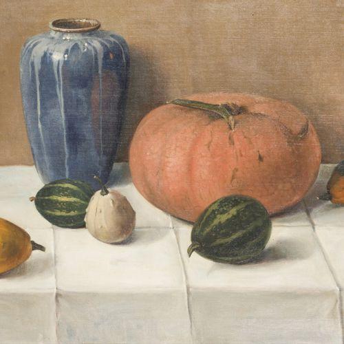 Peter Wilhelm Millernaar (Kleef Dld. 1887 1978 Den Haag), Still life with gourd …