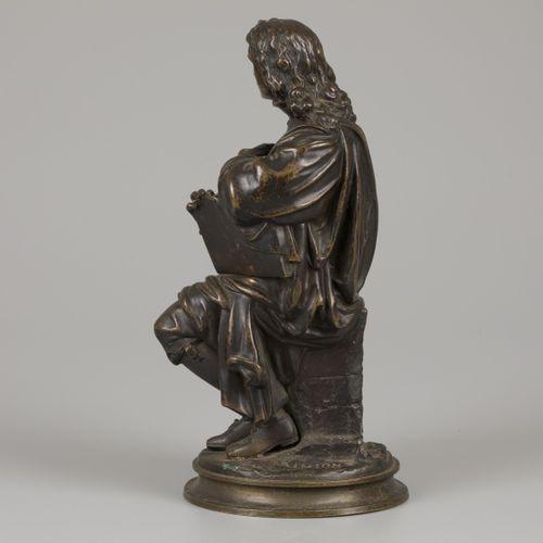 After Jean Jules B. SALMSON (1823 1902), a seated poet. 青铜,签名(背面),高28厘米。估计:40 60…
