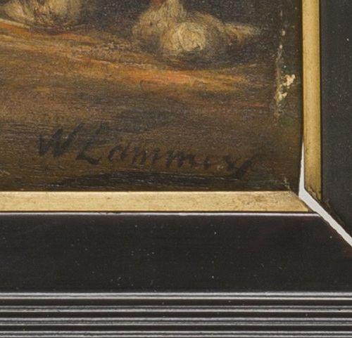 Wilhelm Albertus Lammers (Aalten 1857 1913 Ginniken/Breda), Chickens in a stable…