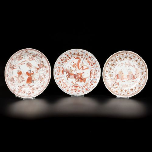 A lot comprising (3) porcelain Milk and Blood plates with Long Eliza decoration …