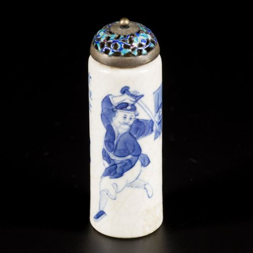 A softpaste snuff bottle with Wu Shuang Pu decor, China, 19th century. H.9厘米。估计:…