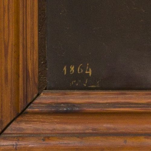 "German School, ca. 1900, Portrait of a church official / prelate. 日期为 ""1864""(左下)…"