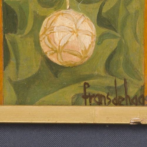 """Frans de Haas (B. Arnhem 1934), """"Balkonscene"""". (On the Balcony). 签名,日期为 """"63""""(右下角…"""