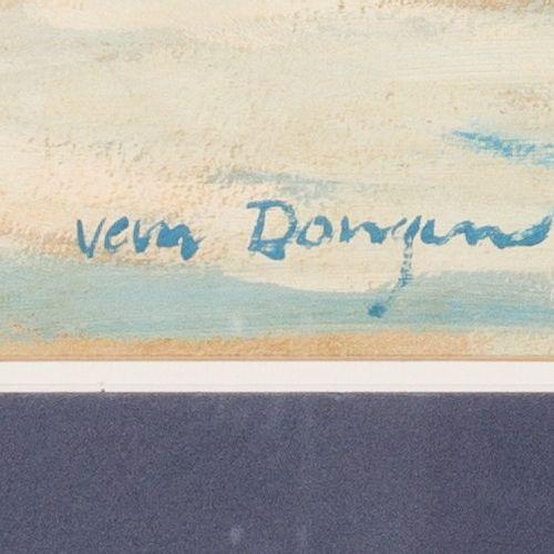 """Signed """"Van Dongen"""", Shipping on the Maas near Rotterdam. Signé (en bas à gauche…"""