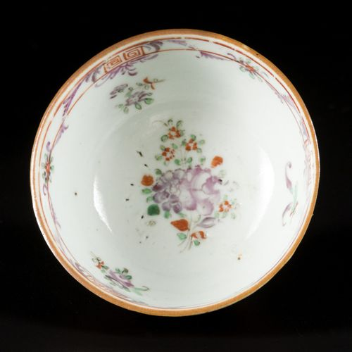 A lot comprising porcelain items a.W. A capuchin cup and saucer and an Imari dis…