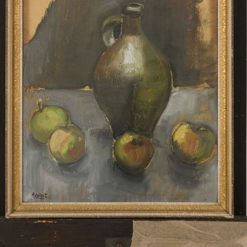 Arnout Colnot (Amsterdam 1887 1983 Bergen) Still life with apples and a jug (rec…