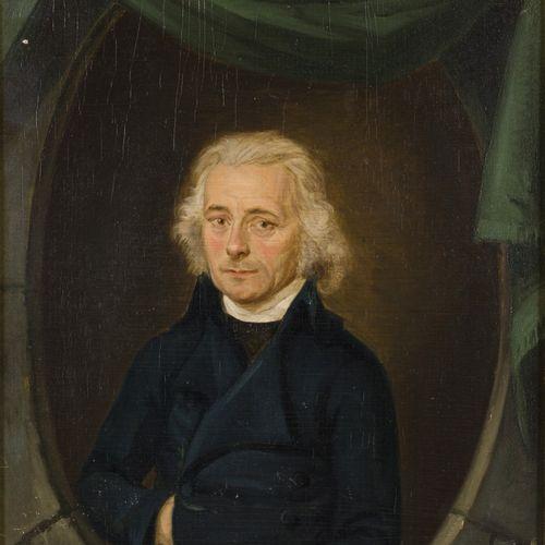 Dutch School, ca. 1790. Portrait of a gentleman. Huile sur panneau, non signée. …