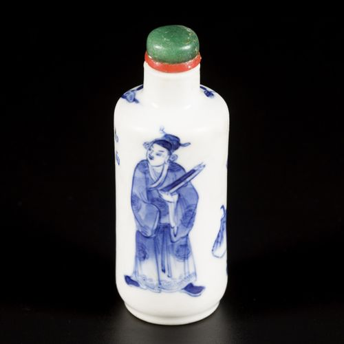 A porcelain snuff bottle decorated with scholars and antiquities, China, 19th ce…