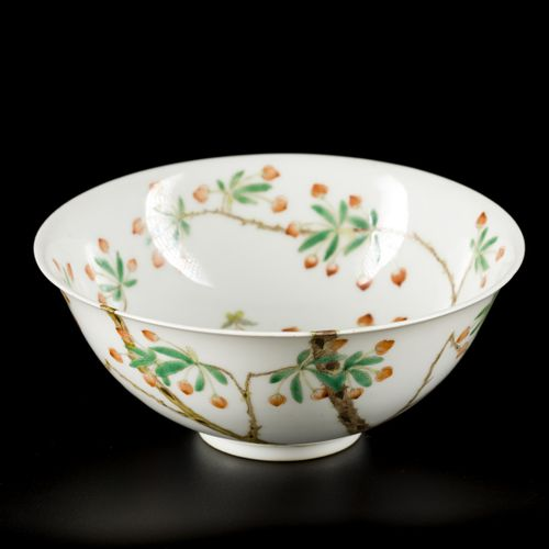 A porcelain bowl decorated with peaches, marked Daoguang, China, 20th century. D…