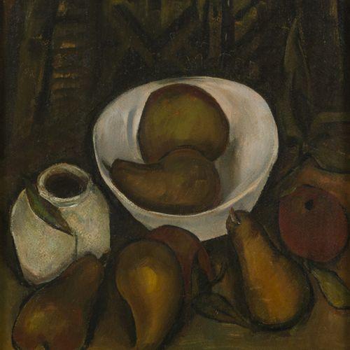 Henriëtte Pessers (Tilburg 1899 1986), Still life with cooking pears. 签名(右下),木板油…