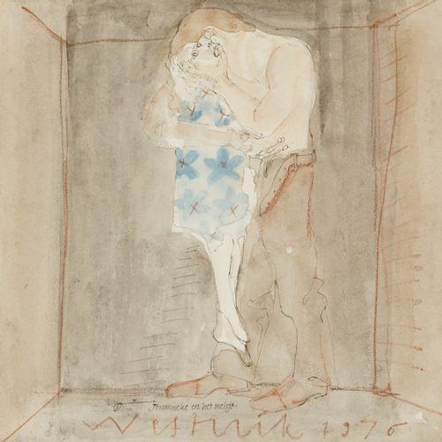 """Jacobus """"Co"""" Westerik (Den Haag 1924 2018 Rotterdam), """"Jerommeke en het meisje"""".…"""