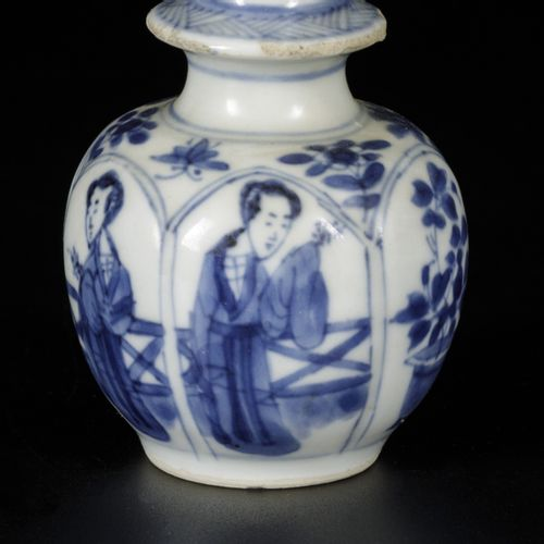 A porcelain vase with Lingzhi's decor in division, marked with jade sign, China,…