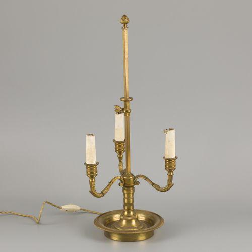 An Empire style gilt bronze three light bouilotte tablelamp, France, late 19th c…