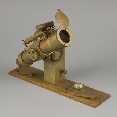 """A surveyors' """"Gustav Heyde"""" brass level spirit instrument (transit/ theodolite),…"""