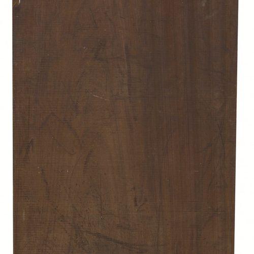 Dutch School, a wooden sculpture with copper, ca. 1970. Monogrammé A.L., daté 19…