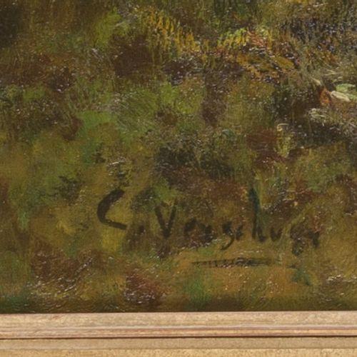 """Cornelis """"Cor"""" Wouter Bouter (Gouda 1888 – 1966 The Hague), Koeien melken. Signé…"""