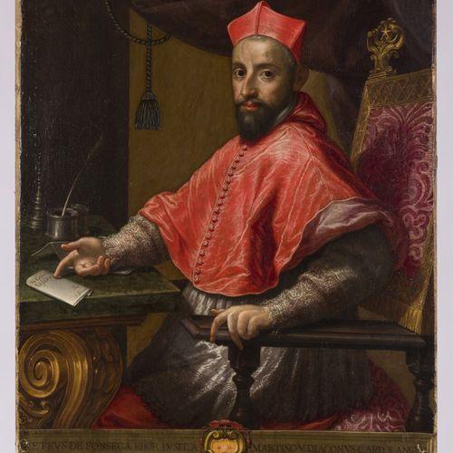 Italian School, 16th / 17th Century. Portrait of cardinal Petrus de Fonseca / Pe…
