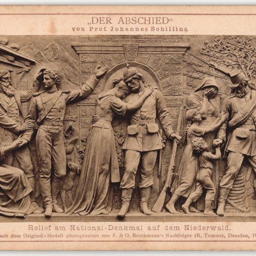 """After by Prof. J. Schilling, """"Figurengruppe für das Nationaldenkmal auf dem Nied…"""