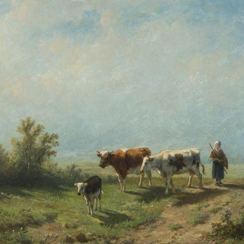 Antonie Jacobus van Wijngaerdt (Rotterdam 1808 1887 Haarlem), Pastoral scene wit…