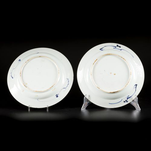 """A set of (2) porcelain chargers """"Romance of the Western Chamber"""", China, Yongzhe…"""
