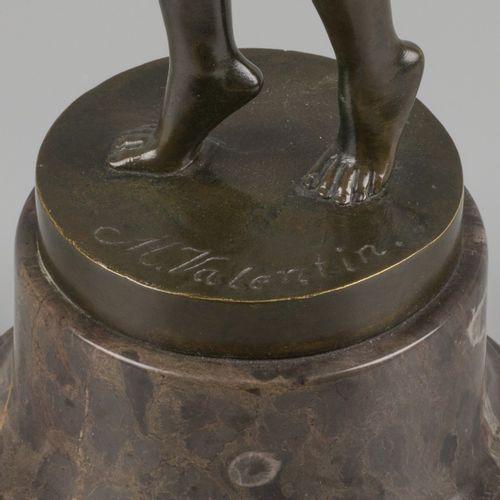 Max Valentin (1875 1931), A bronze figure of an elegant dancing beauty, Germany,…