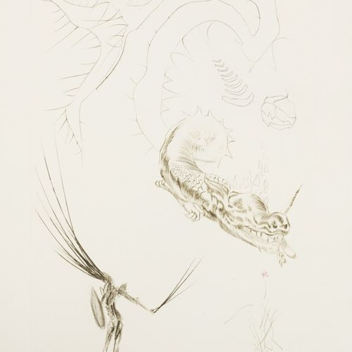 Salvador Dali (Figueres 1904 1989), Tristan and the dragon, from the portfolio T…