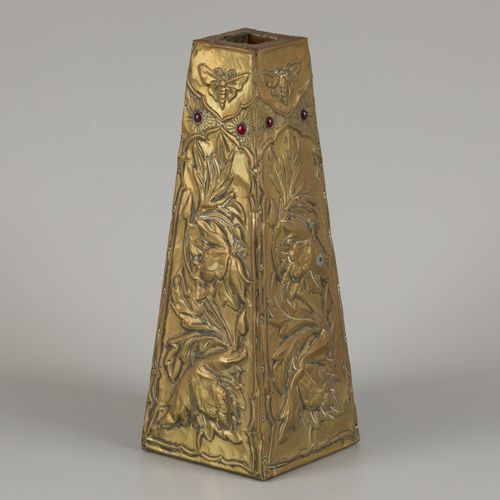 Circle of Alfred Louis Daguet (1875 1942), A vase with embossed copper, France, …